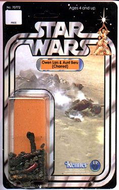 Star Wars figures: Charred Uncle Owen