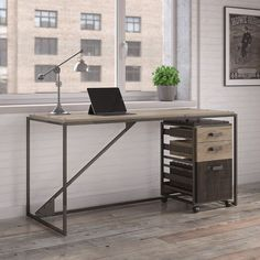 Desk with File 62W - 8825543 | OfficeFurniture.com