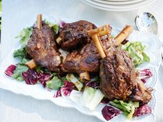 Braised Lamb Shanks with Escarole and Radicchio recipe from Giada De Laurentiis via Food Network