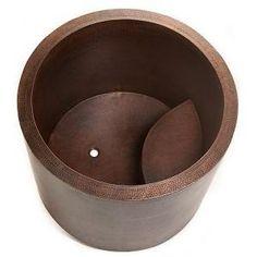 Japanese soaking tub #wantone copper tub soaking premier comfort space small designer