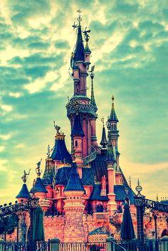 The castle of the sky Disneyland -California