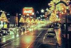 """""""Hollywood Boulevard at Christmas, 1952  """""""