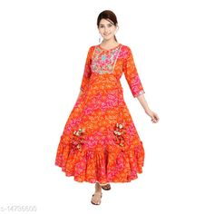 Kurtis & Kurtas SS SANGANERI Printed Rayon Kurti Fabric: Rayon Sleeve Length: Three-Quarter Sleeves Pattern: Printed Combo of: Single Sizes: S (Bust Size: 36 in, Size Length: 51 in)  XL (Bust Size: 42 in, Size Length: 51 in)  L (Bust Size: 40 in, Size Length: 51 in)  M (Bust Size: 38 in, Size Length: 51 in)  Country of Origin: India Sizes Available: S, M, L, XL, XXL   Catalog Rating: ★4.2 (1220)  Catalog Name: Chitrarekha Voguish Kurtis CatalogID_2925177 C74-SC1001 Code: 677-14736600-7212