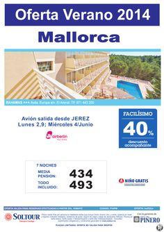 MALLORCA 40% dto acompañante. Hotel Bahamas. Salidas 1,4 y 9 de Junio desde Jerez de la Frontera ultimo minuto - http://zocotours.com/mallorca-40-dto-acompanante-hotel-bahamas-salidas-14-y-9-de-junio-desde-jerez-de-la-frontera-ultimo-minuto/