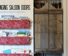 How to make swinging saloon doors in less than an hour and for about $7! Such a fun idea for a kids room!