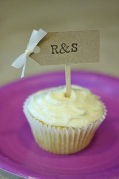30 Monogrammed Wedding Cupcake Toppers/ Wedding Cake by LiamsPost, $18.00