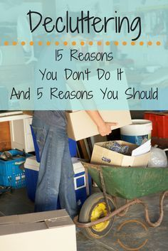 Decluttering your home makes it easier to organize and clean. via /happilyeveruncl/