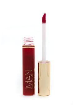 IMAN COSMETICS A high-shine gloss that moisturizes lips.High shine lip gloss in cream and frost formulas.