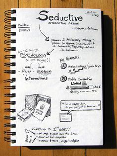 "Interactive SketchNotes: ""Leveraging Seductive Interaction Design"" by Mike P '10"