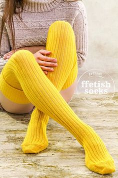 NEW AUTUMN Canary YELLOW Thigh excessive stockings Knitted Wool socks Additional lengthy Classic pattern- Wool mix Considered one of a Type Present Over Knee Socks, Knee High Socks, Thigh High Socks Outfit, Knee Socks Outfits, High Boots, Long Socks Outfit, Thigh Socks, Baby Tights, Knit Stockings