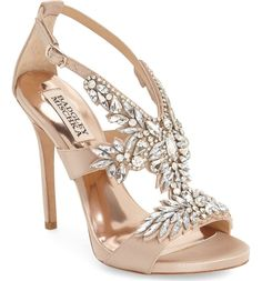Get the must-have sandals of this season! These Badgley Mischka Capella Crystal Embellished Platform Sandals Size US 8 Regular (M, B) are a top 10 member favorite on Tradesy. Bridal Shoes, Wedding Shoes, Bridal Footwear, Dream Wedding, Open Toe Sandals, Shoes Sandals, Strappy Shoes, Strap Sandals, Holiday Shoes