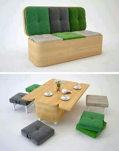 Say what??? Couch turns into dining room table