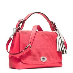 Coach :: New Legacy Perforated Leather Romy Top Handle