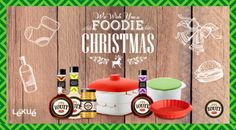 ¡We wish you a foodie Christmas!