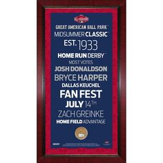 2015 MLB All-Star Game 16x32 Subway Sign w Game Used Dirt
