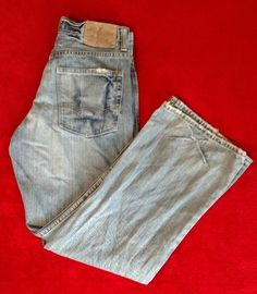 American Eagle Men's Bootcut Blue Jeans Size 28/28 #AmericanEagleOutfitters #BootCut