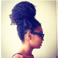 I can do this hairstyle! After a long day of letting my hair out. Indian Hairstyles, Weave Hairstyles, Updo Hairstyle, Prom Hairstyles, Love Hair, Big Hair, Curly Hair Styles, Natural Hair Styles, Natural Beauty