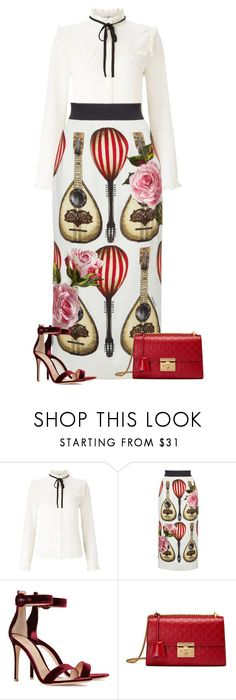 """Untitled #665"" by l-amisa ❤ liked on Polyvore featuring Lipsy, Dolce&Gabbana, Gianvito Rossi and Gucci"