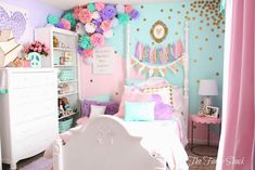 Don't miss the opportunity to get the coolest room design in the world! #midcenturymodern #midcenturyhome #midcenturydecor #midcenturytrends #modernhomedecor #interiordesignideas #interiordesign #homeinspirations #interiordecor #hometrends2019 #homeinteriordecor Pastel Girls Room, Pastel Bedroom, Girl Bedroom Designs, Bedroom Themes, Bedroom Decor, Girl Room Decor, Big Girl Bedrooms, Little Girl Rooms, Bedroom Girls