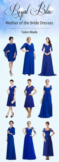 Royal Blue Mother of the Bride Dresses! Tailor-Made #motherofthebridedress Women, Men and Kids Outfit Ideas on our website at 7ootd.com #ootd #7ootd
