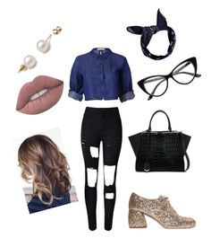 """""""Glam 7"""" by glowgetter on Polyvore featuring WithChic, Miu Miu, Fendi, Boohoo and Lime Crime"""