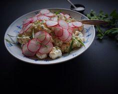 Vanløse blues.....: Blomkålssalat med bearnaise creme & sprøde radiser