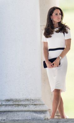 Kate at National Maritime Museum to support UK's bid to enter America's Cup June 10, 2014 in Jaeger Dress