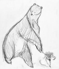 Concept Art, Mum Bear and Merida, Brave, By Matt Nolte. Animal Sketches, Animal Drawings, Art Sketches, Art Drawings, Disney Artwork, Disney Drawings, Kunst Inspo, Art Inspo, Collage Des Photos