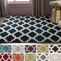 Satiate your wild side with this contemporary Moroccan trellis rug. This rug is hand-tufted using polyester in China, will add a pop of color and the finishing touch to your decor. Navy Blue Decor, Teal Blue, Trellis Rug, Polyester Rugs, Hand Tufted Rugs, Carpet Stains, Cool Rugs, Contemporary Rugs, Accent Rugs