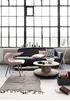 #design #interior #inspiration {grey & pink by the style files, via Flickr}