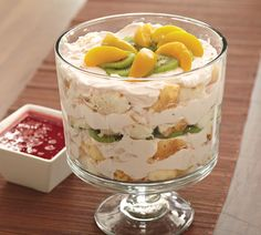 Angel Food cake makes this trifle heavenly.