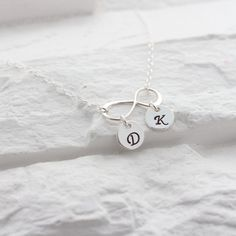 INFINITY Necklace . Monogrammed Necklace .Silver by MonyArt, $31.80