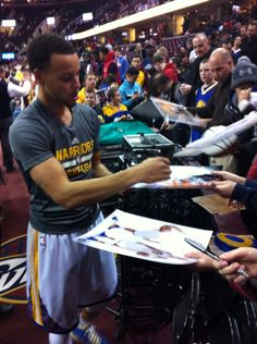 Steph at Cavalier game