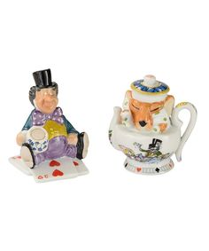 Look at this Alice in Wonderland Mad Hatter & Dormouse Salt & Pepper Shakers on #zulily today!