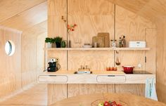 Interior, Wikkelhouse By Fiction Factory, Sustainable cardboard house.