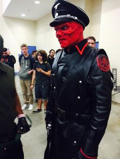 Excellent Red Skull Cosplay