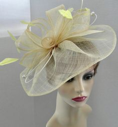 Yellow Fascinator, Primroses, Wedding Hats, Ladies Day, Pearl Beads, Mother Of The Bride, Headpiece, Special Occasion, My Etsy Shop