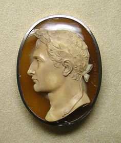 Cameo of Napoleon I of France ca. 1810, Italian, sardonyx and gold - in the Metropolitan Museum of Art costume collections.