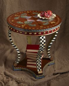 "MacKenzie-Childs ""Highland Thistle"" Accent Table"