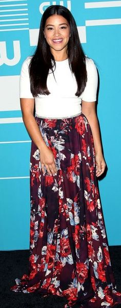 Gina Rodriguez – The CW Network's 2015 Upfront in New York City Gina Rodriguez, Fashion Models, Fashion Beauty, Girl Fashion, Womens Fashion, Celebrity Red Carpet, Celebrity Style, Petra, Modelos Fashion