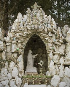 Ave Maria Grotto ....so beautiful when you zoom in and see the flowers and gemstones.