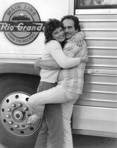 MARRIED AND IN LOVE - Merle Haggard and new wife Leona Williams - 1980s.