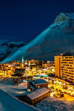 Tignes, In the heart of Savoy, in France's Northern Alps.