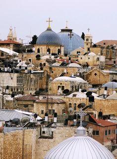 Terre Sainte- Israël - Jerusalem's roofs. Les toits de Jérusalem