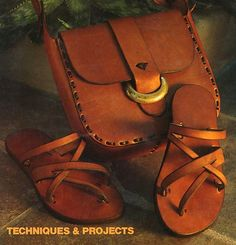1973 HIPPIE FAD MODERN LEATHER CRAFT Diy Projects Hats Backpack Sandals Purse