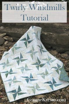 Twiling Windmills quilt tutorial is fast and easy to make using either AccuQuilt GO! dies or the templates I have included #AccuQuilt #batiks #islandbatik #quilt #tutorial #freepattern