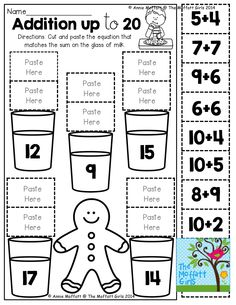 Addition up to 20 (cut and paste)! TONS of great printables that are engaging, hands-on and FUN!