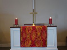 decorations for pentecost | Pentecost altar cloth