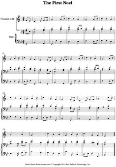 The First Noel sheet music for Trumpet