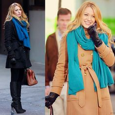 Winter looks - coat - Serena van der Woodsen Gossip Girl always beautyful <3 Looks de Inverno nas cores da estação by Pantone